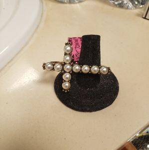 Betsey Johnson Cross Ring